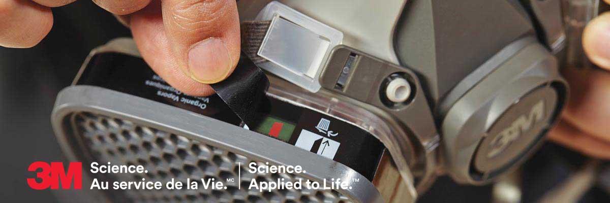 Protective masks: 3M Organic Vapor Service Life Indicator Cartridges