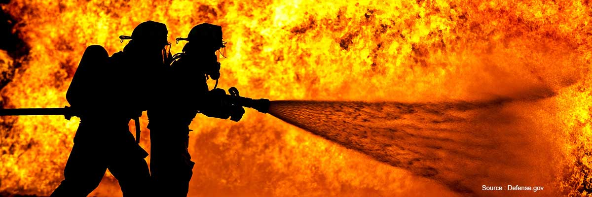Firefighters absorb chemical products through their protective gear