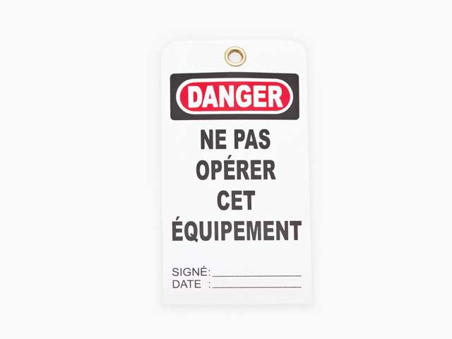 Prevention or Lockout Tags