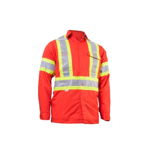 """Kosto Quilted Work Shirt with 4"""" Reflective Tape"""