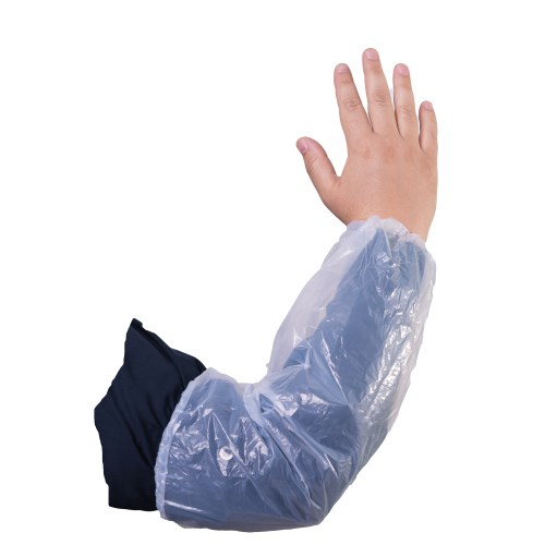 "White Polyethylene Protective 16"" Sleeves, 100/box"