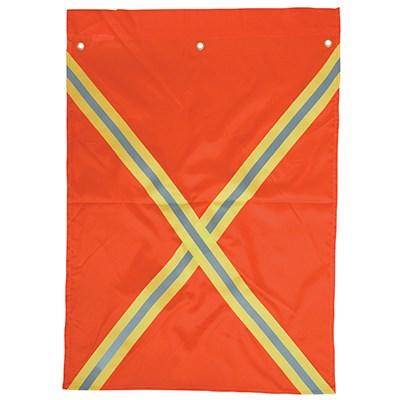 Fluorescent nylon flag