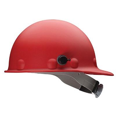 Red welding helmet