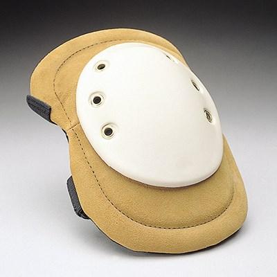 Split leather knee-pad with elastic strap