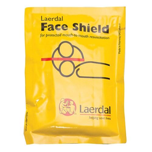 Single-use CPR facial shield