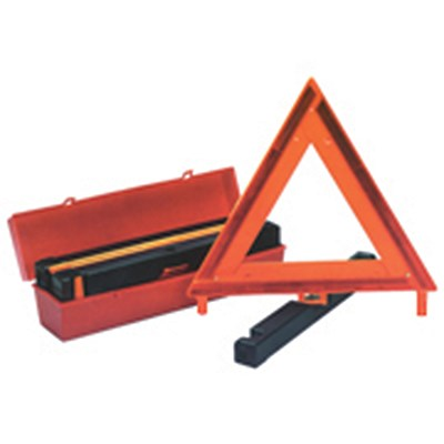 Emergency Warning Triangles on Stand, 3/box